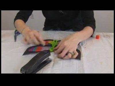 Children's Crafts: Paper Butterfly Sun Catchers : Butterfly Sun Catchers: Attaching Body