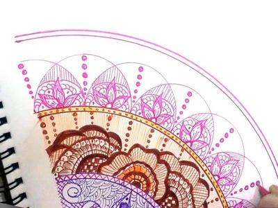 Colourful Mandala ART: Speed Drawing