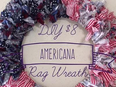 DIY $8 Americana Rag Wreath Fourth in Series 2017