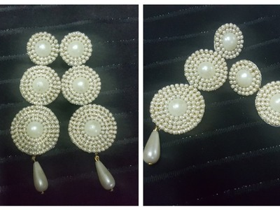 (DIY)HOW TO MAKE PEARL PAPER EARRINGS.PAPER JEWELLERY.THE STUNNING HANDMADE'S❤