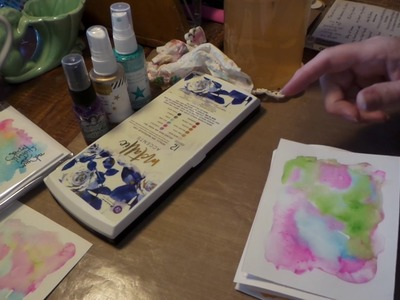 DIY How to paint easy watercolor sticker cards Start to Finish