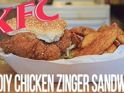 DIY KFC Fried Chicken Zinger Sandwich CopyCat Recipe