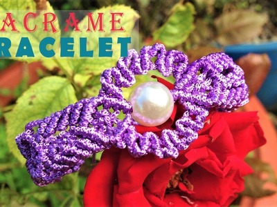 DIY macrame bracelet tutorial -  the Eye of the Sun -  step by step handmade guide