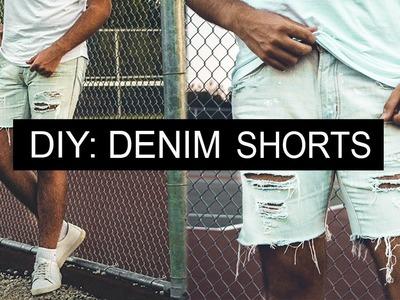 DIY: Men's Distressed Denim Shorts