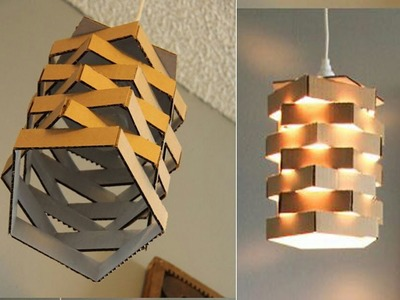 DIY Paper Lamp.Lantern - How to make a Night Lamp - Home and Room decor