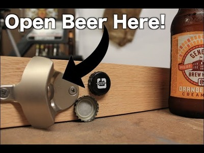 DIY Wall Mount Bottle Opener
