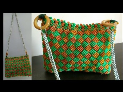 Do it on your own | How to make macrame bag with new design pattern | Learn in Hindi (Part 2.2)
