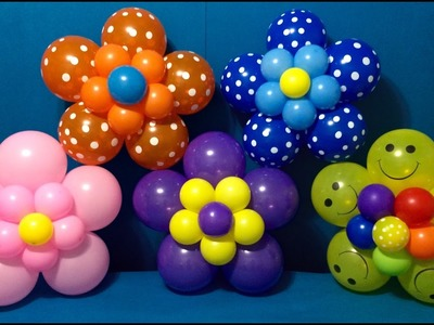 Dollar Store Balloon Décor! Easy Giant Flowers