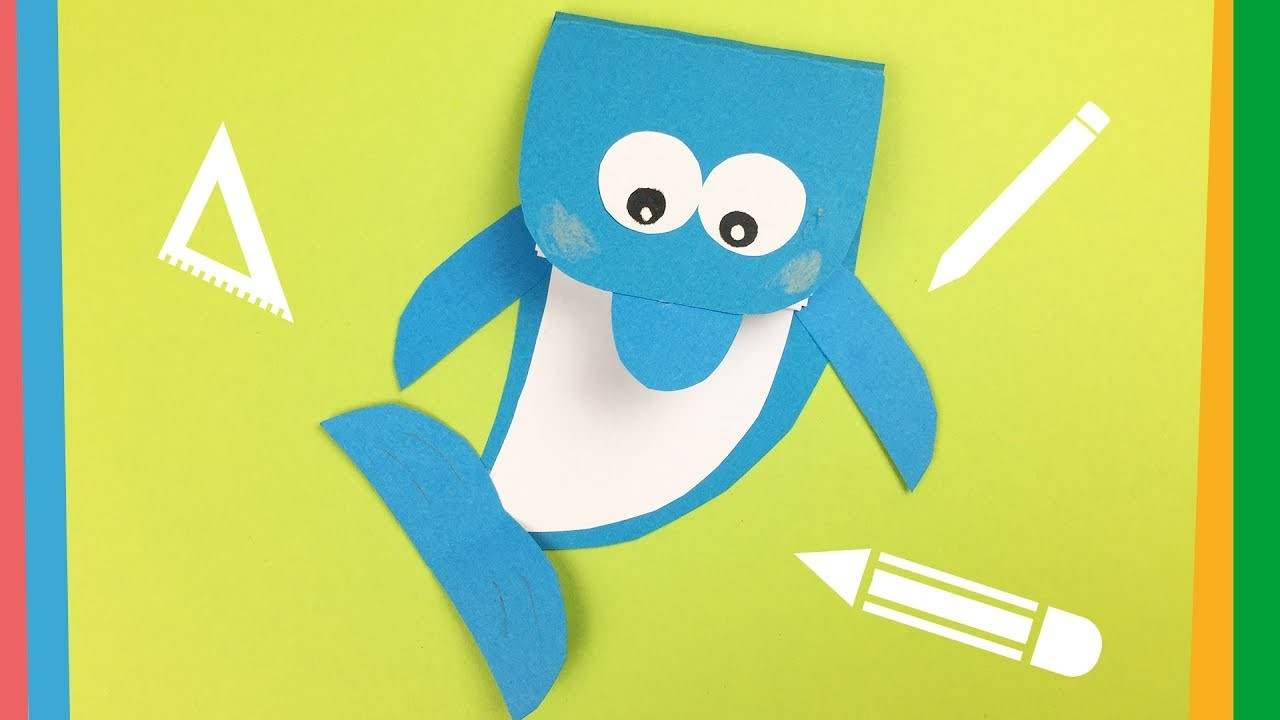 Dolphin notebook DIY | Creative and Easy back to school craft for kids