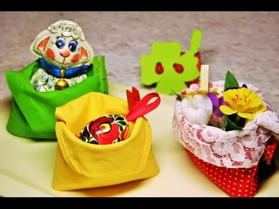Easter napkin folding - Basket