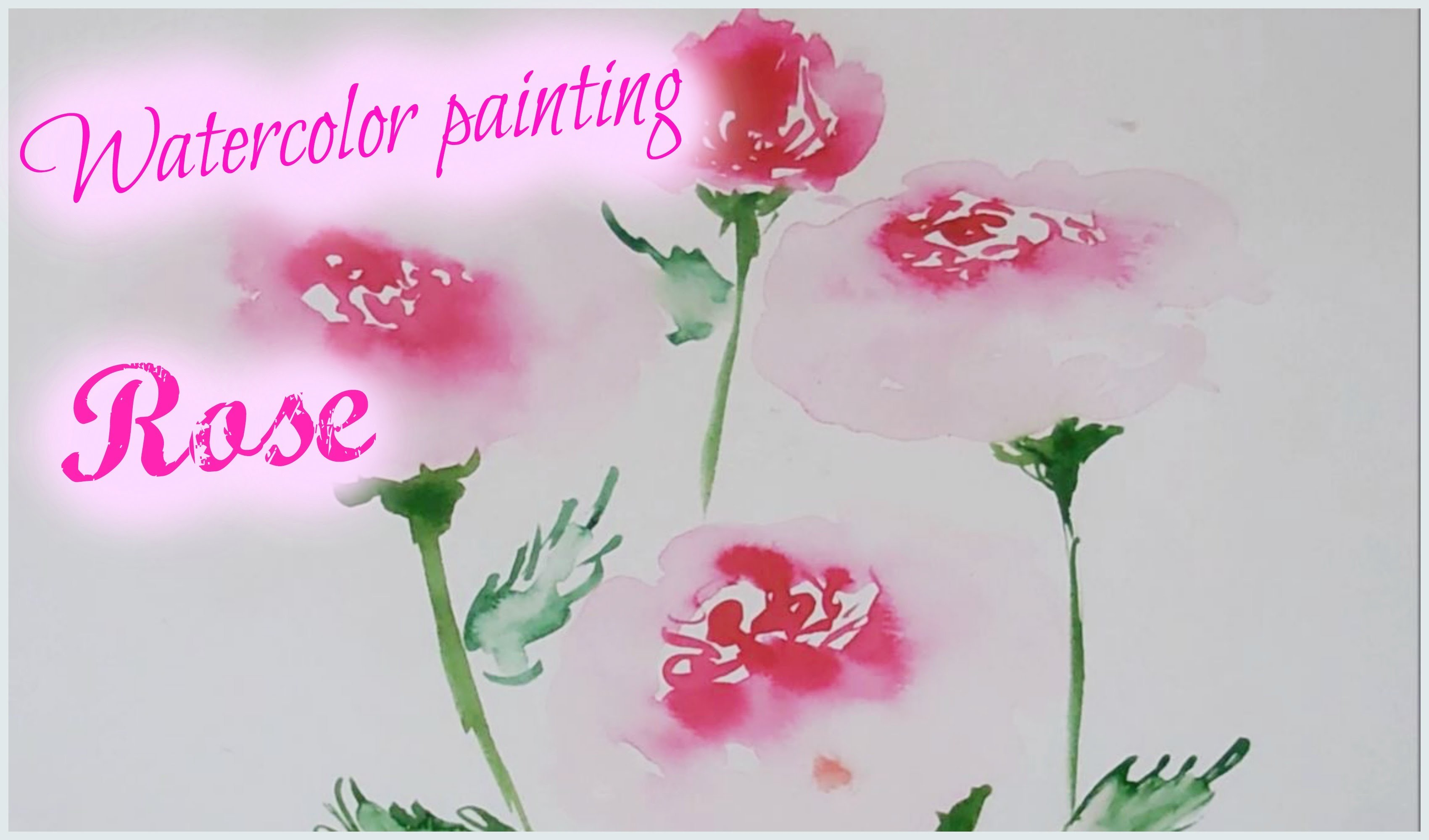Easy Watercolor Painting For Kids Rose Watercolor Painting