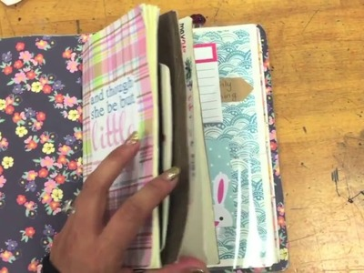 Easy ways and ideas for setting up a Travelers Notebook, Midori Journaling System - Tutorial