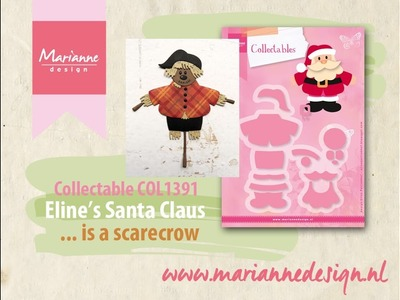 Eline's Santa Claus Collectable COL1391 | How to make a Scarecrow | Marianne Design Cardmaking