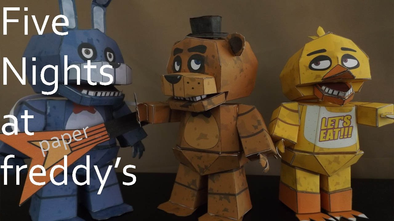 Five Nights At Freddys Trailer Papercraft Remake