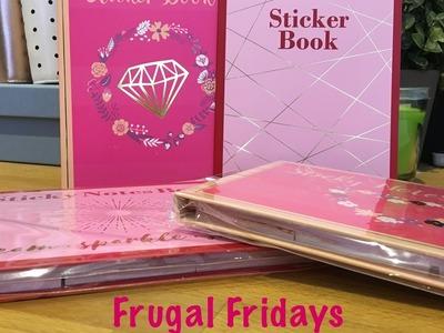 Frugal Fridays - Aldi Sticky Note and Sticker Books