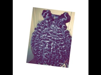 Half Up Half Down Top Knot Crochet Hair   Braid Method