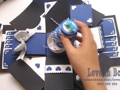 Handmade gifts - Handmade love box - Handmade exploding box card - Love in Box