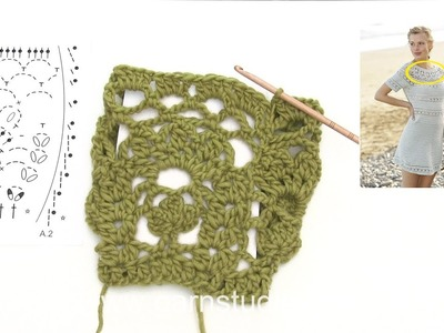 How to crochet A. 1 and A.2 in DROPS 175-30