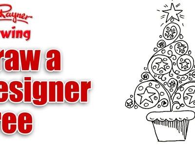 How to draw a designer Christmas Tree