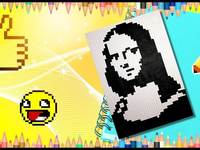 How to draw the Mona Lisa easy step by step tutorial. Pixel Mona Lisa