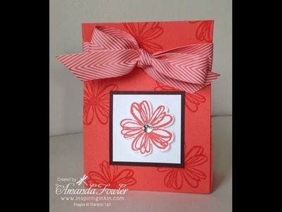 How to make a one sheet bag using Stampin' Up! card
