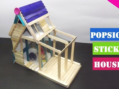 How to make a Popsicle stick House – Simple Tutorial