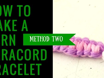 """How to Make a Yarn """"Paracord Keychain"""" Method 2"""