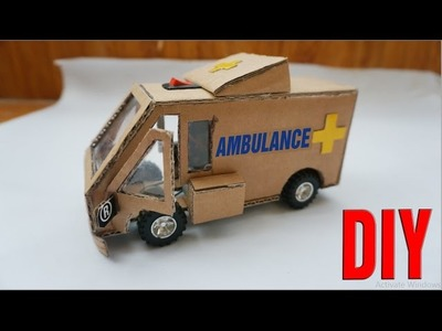 How To Make Ambulance Car DIY (Toy Car) Powered Car Very Simple