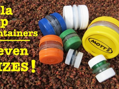 How to make ● cola cap survival containers ● 7EVEN SIZES!