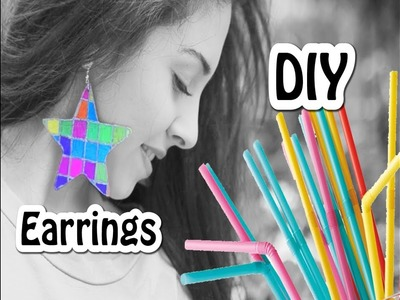 How to make earrings from drinking straws