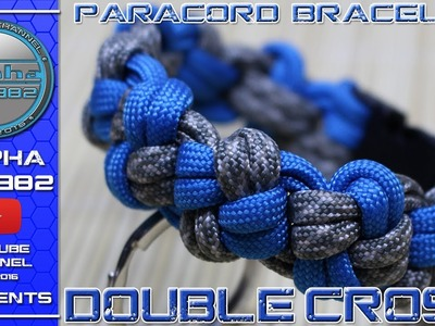 How to make Paracord bracelet Double Cross