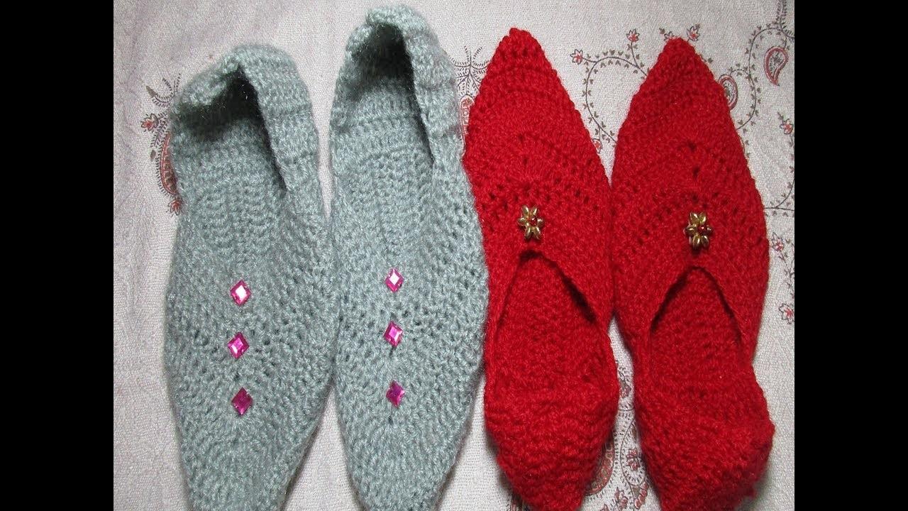 How to make punjabi jutti.slippers using crochet.[Hindi.Punjabi]