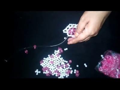How to make putir.beads Flower Bag.Purse. পুতির ফুল ব্যাগ তৈরি (part-2)