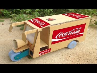 How to Make Rickshaw (Tuk Tuk) Coca-Cola Transporter DIY  Very Easy