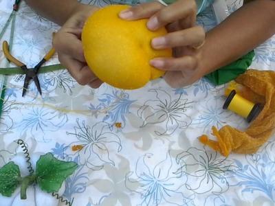 How to make  stocking flower ( Pumpkin)ployandpoom