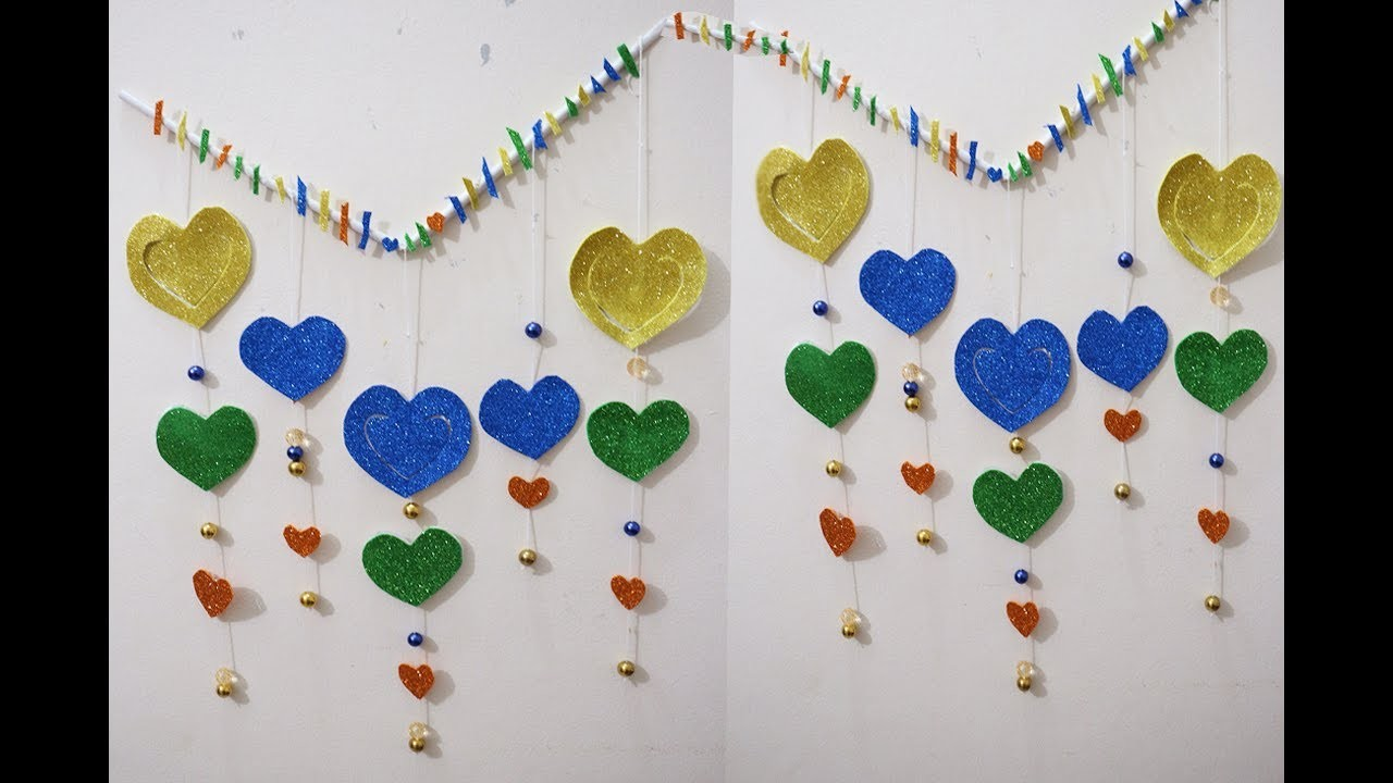 How To Make Wall Decorations With Paper 3d Heart Shaped Wall Decor