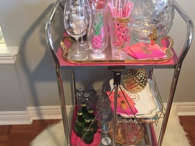 HOW TO STYLE A BAR CART FOR SUMMER- DIY (COLORFUL & FUN)