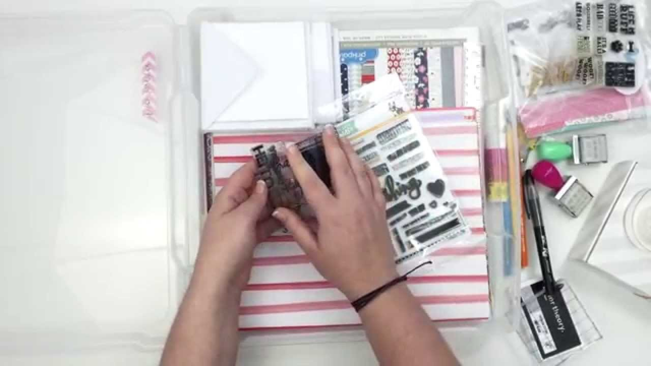 How To Travel With Scrapbook Supplies