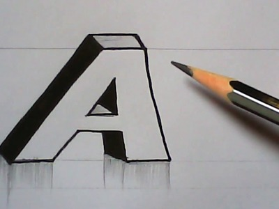 How to write 3D letters | 3D letter designing | mazic writer