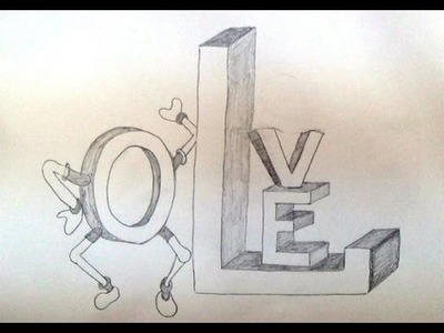 Draw drawing 101 where to start part 1 of 3 easy pictures to how to write love in 3d style 3d letters drawing expocarfo