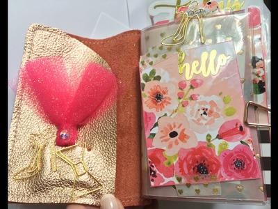 June Pocket Traveler's Notebook TN Planner Setup - Foxy Fix #2 size  - Midori - Field Notes