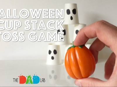 Kids Activities for Halloween: Cup Stack Toss Game
