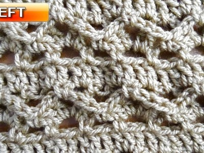 Lacy Waves Crochet Stitch - Left Handed Crochet Tutorial