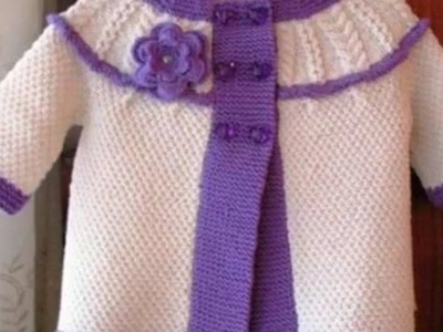 Latest Two Colour woolen sweater design in Hindi for kids or baby   sweater and sweater designs