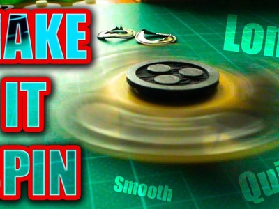 Make Your Fidget Spinner Bearing Spin Fast-Smooth-Quiet | Easy DIY Hack