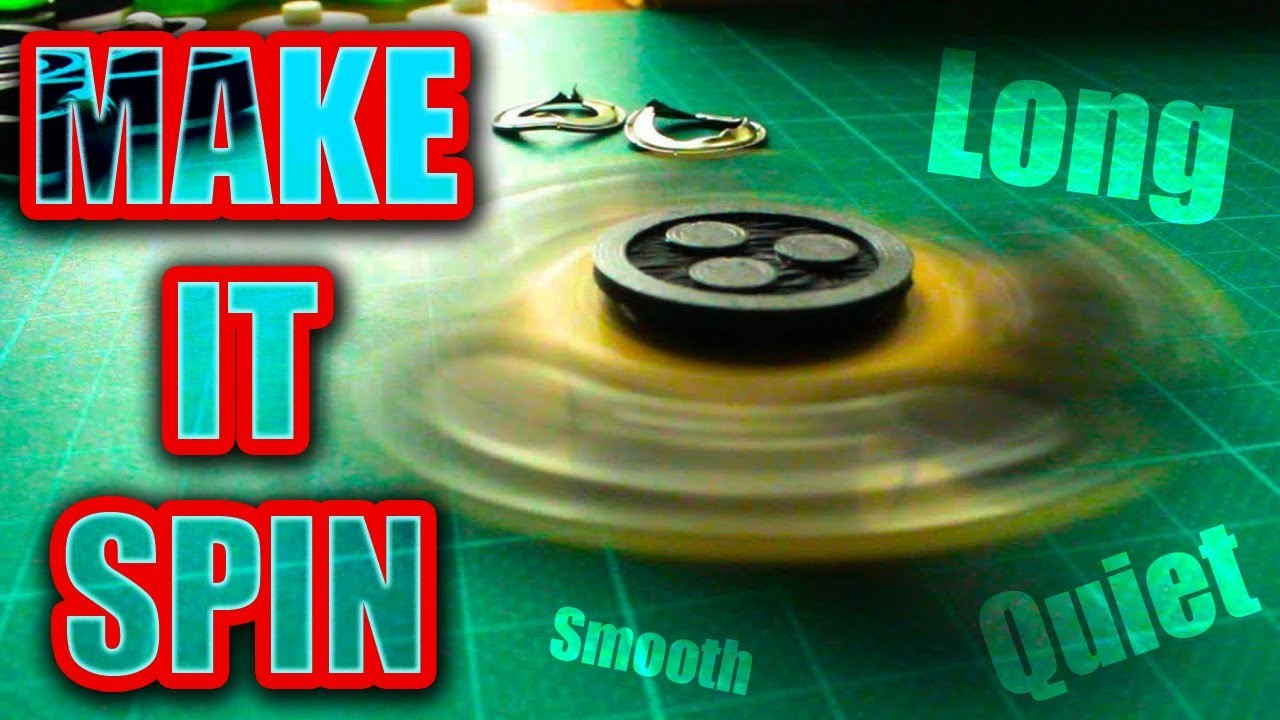Make Your Fidget Spinner Bearing Spin Fast-Smooth-Quiet   Easy DIY Hack