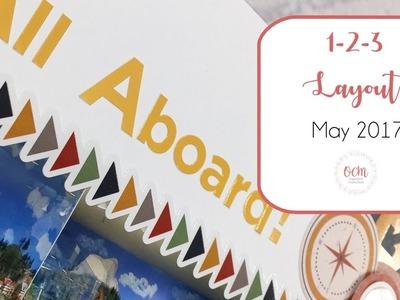 May 1-2-3 Scrapbook Layout