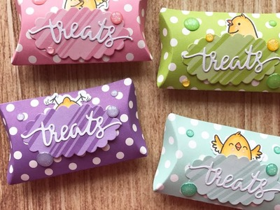 Mini Spring Pillow Treat Boxes - Your Next Stamp (Stamp Create Repeat Series)