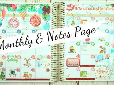 Monthly & Notes Page. Plan With Me. Erin Condren