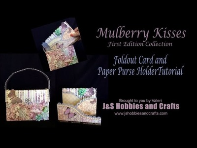 Mothers Day Card and Purse Holder Free Tutorial by Valeri at J and S Hobbies and Crafts